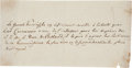 Autographs:Military Figures, Tadeusz Kosciuszko Autograph Letter Signed in the Third Person. ...