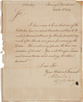 Autographs:Statesmen, Alexander Hamilton Treasury Circular Signed with a Second FrankingSignature....