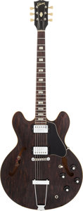 Musical Instruments:Electric Guitars, 1972 Gibson ES-335 Walnut Semi-Hollow Body Electric Guitar, Serial#690963....