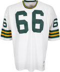 Football Collectibles:Uniforms, 1973 Ray Nitschke Game Worn Green Bay Packers Jersey - Photo Matched to His Last Ever Game!...