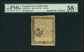 Colonial Notes:Pennsylvania, Pennsylvania April 10, 1777 3d PMG Choice About Unc 58 EPQ.. ...