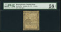 Colonial Notes:Pennsylvania, Pennsylvania October 25, 1775 3d PMG Choice About Unc 58 EPQ.. ...