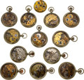 Timepieces:Clocks, Thirteen Early Howard Pocket Watches For Restoration Or Parts. ...(Total: 13 Items)