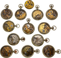 Thirteen Early Howard Pocket Watches For Restoration Or Parts
