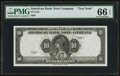 "Miscellaneous:Other, American Bank Note Company Series ""1929"" 10 Units Specimen UnifaceNote circa 1980s PMG Gem Uncirculated 66 EPQ.. ..."