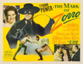 "Movie Posters:Swashbuckler, The Mark of Zorro (20th Century Fox, 1940). Half Sheet (22"" X 28"") Style A.. ..."