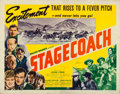 "Movie Posters:Western, Stagecoach (United Artists, 1939). Half Sheet (22"" X 28"") Style B....."