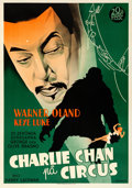 "Movie Posters:Mystery, Charlie Chan at the Circus (20th Century Fox, 1936). Swedish OneSheet (27.5"" X 39.5"") Eric Rohman Artwork.. ..."