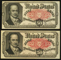 Fractional Currency:Fifth Issue, Fr. 1381 50¢ Fifth Issue Two Examples Very Fine or Better.. ...(Total: 2 notes)