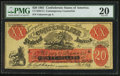 Confederate Notes:1861 Issues, Contemporary Counterfeit XX-1/C1 $20 Female Riding Deer Bogus Note 1861 Back F.. ...