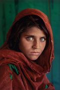 Photographs, Steve McCurry (American, b. 1950). Afghan Girl, Pakistan, 1985. Dye coupler, printed later. 21-1/8 x 14-1/8 inches (53.7...