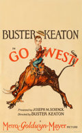 "Movie Posters:Comedy, Go West (MGM, 1925). Window Card (13.75"" X 22"").. ..."