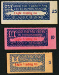 Obsoletes By State:Alaska, (Eagle, AK), Eagle Trading Co. 5; 10; 25¢ ND. ... (Total: 3 items)