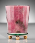 Silver Holloware, Continental:Holloware, A Fabergé Russian Rhodonite, 14K Gold, and Enamel Match Holder,workmaster's mark for Viktor Aarne, St. Petersburg, Russia, ...