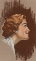 Mainstream Illustration, Charles Gates Sheldon (American, 1889-1960). Nanette Fabray.Pastel on board. 15 x 9 in. (sight). Not signed. ...