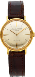 Timepieces:Wristwatch, International Watch Co. Mid-Size 18k Gold Automatic. ...