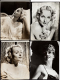 "Movie Posters:Miscellaneous, Carole Lombard Lot (c. 1935-1940). Photos (8), Color Print (Approx.11"" X 14"") with Magazine & Trade Ads (2) (Approx. 9.5"" X...(Total: 12 Items)"