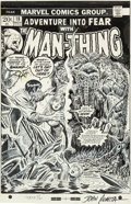 Original Comic Art:Covers, John Romita Sr. Fear #18 Man-Thing Cover Original Art(Marvel, 1973)....