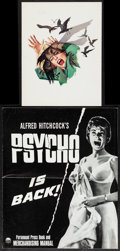 """Movie Posters:Hitchcock, The Birds & Other Lot (Universal, 1963). Program (MultiplePages, 8.5"""" X 11""""), Pressbook (10 Pages, 12.25"""" X 15""""), & PressM... (Total: 3 Items)"""