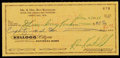 Football Collectibles:Others, 1966 Ron Kostelnik Signed Check Made Out to the Green Bay Packers. ...