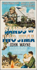"Movie Posters:War, Sands of Iwo Jima (Republic, 1950). Three Sheet (41"" X 78.5""). War.. ..."