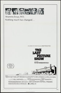 """The Last Picture Show (Columbia, 1971). One Sheet (27"""" X 41""""). Flat Folded. Drama"""