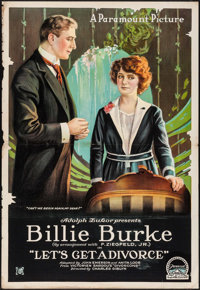 """Let's Get a Divorce (Paramount, 1918). One Sheet (27"""" X 41""""). Comedy"""