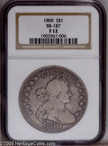 Early Dollars: , 1800 $1 F12 NGC. BB-187. NGC Census: (45/1092). Mintage: 220,920.Numismedia Wsl. Price: $1,075. (#6...