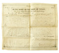 Autographs:Military Figures, Governor George T. Wood: Signed Land Grant, 1848...