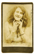 "Photography:Cabinet Photos, ""Soiled Dove"" Cabinet Card..."