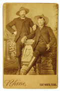 Photography:Cabinet Photos, Gustav C. Rhine Cabinet Card of Cowboys Dressed as Gentlemen...