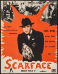 """Movie Posters:Crime, Scarface (Georges Muller, R-1950). French Petite (18.5"""" X 23.5"""")DS. Crime.. ..."""