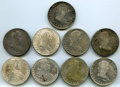 Mexico, Mexico: Ferdinand VII 8 Reales Lot 1809-1821,... (Total: 9 coins)