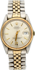 Timepieces:Wristwatch, Rolex Steel & Gold Oyster Perpetual For Restoration. ...