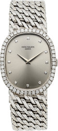 Timepieces:Wristwatch, Patek Philippe Ref. 3748/97 White Gold & Diamond Wristwatch. ...