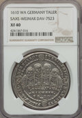 German States:Saxe  - Middle  - Weimar, German States: Saxe-Middle-Weimar. Joint Rule Taler 1610-WA XF40NGC,...