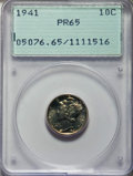 Proof Mercury Dimes: , 1941 10C PR65 PCGS. PCGS Population: (1475/1655). NGC Census: (759/1487). CDN: $150 Whsle. Bid for problem-free NGC/PCGS PR...