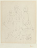 Prints & Multiples, After Pablo Picasso . Famille des Saltimbanques, c. 1950. Etching on japon nacré paper. 19-1/2 x 16-1/4 inches (49.5 x 4...