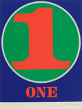Prints & Multiples, Robert Indiana (b. 1928). One, from Numbers, 1968. Screenprint in colors on Schoellers Parole paper. 25-1/2 x 19-3/4...