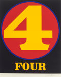 Prints & Multiples, Robert Indiana (b. 1928). Four, from Numbers, 1968. Screenprint in colors on Schoellers Parole paper. 25-1/2 x 19-3/...