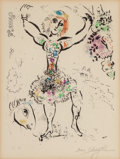 Fine Art - Work on Paper:Print, Marc Chagall (1887-1985). La jongleuse, from ChagallLithographe, Vol. I, 1960. Lithograph in colors on Archespape...