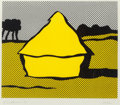 Fine Art - Work on Paper:Print, Roy Lichtenstein (1923-1997). Haystack, 1969. Screenprint incolors on C.M. Fabriano wove paper. 14-3/8 x 17-1/4 inches ...