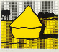 Roy Lichtenstein (1923-1997) Haystack, 1969 Screenprint in colors on C.M. Fabriano wove paper 14-