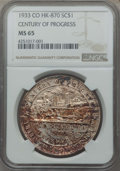Expositions and Fairs, 1933 Century of Progress Colorado So-Called Dollar, HK-870, MS65NGC. ...
