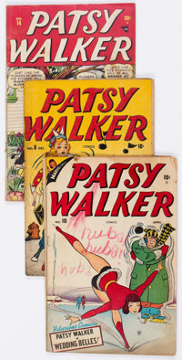 Patsy Walker #8, 10, and 14 Group (Atlas, 1946-48) Condition: Average GD.... (Total: 3 Comic Books)