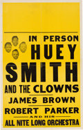 Music Memorabilia:Posters, Huey Smith And The Clowns Concert Poster (circa 1960). ExtremelyRare....