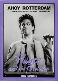Prince And The Revolution Ahoy Rotterdam Concert Poster (Mojo Concerts, 1986). Very Rare