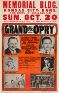 Music Memorabilia:Posters, Willie Nelson Grand Ole Opry Memorial Building Concert Poster(1963). Extremely Rare....