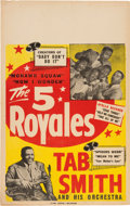 """Music Memorabilia:Posters, """"5"""" Royales Concert Poster (1950s). Extremely Rare...."""