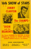 Music Memorabilia:Posters, Dion & The Belmonts/Champs Civic Auditorium Concert Poster (1959). Very Rare....